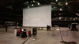 Large High Speed Motorized Bottom Roller Screen 16M