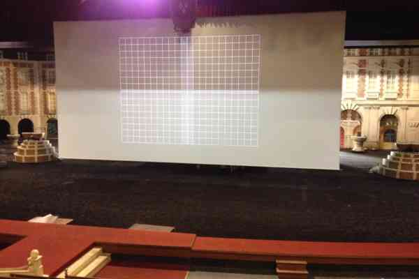 Multivision Ecran De Projection Enroulable Motorise De 20M Toile Retro