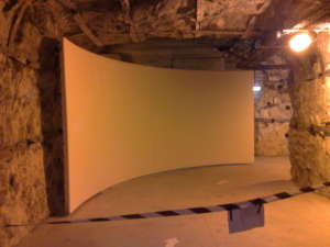 Curved Projection Screen Multivision