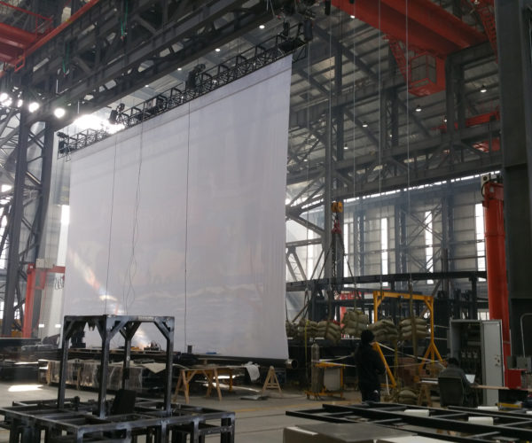 High Speed Motorized Roll Up Screen Bottom Roller