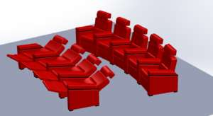 curved row home theater seats