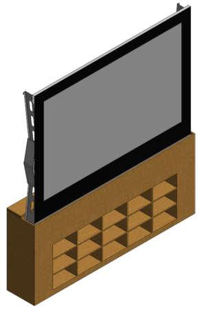 Rear Projection Motorized Bottom Screen 1