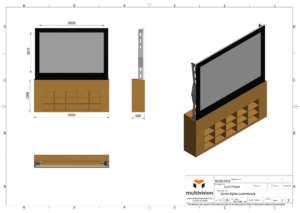 Rear Projection Motorized Bottom Screen 1 Full