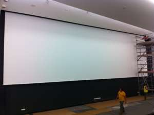 16M Wide Large Motorised Roll Up Projection Screen