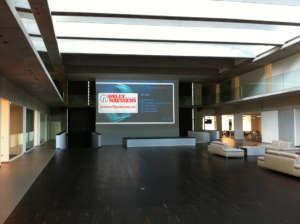 Corporate Conference Large Motorized Screen