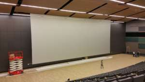 large electric motorized roll up screen polivision Multivision