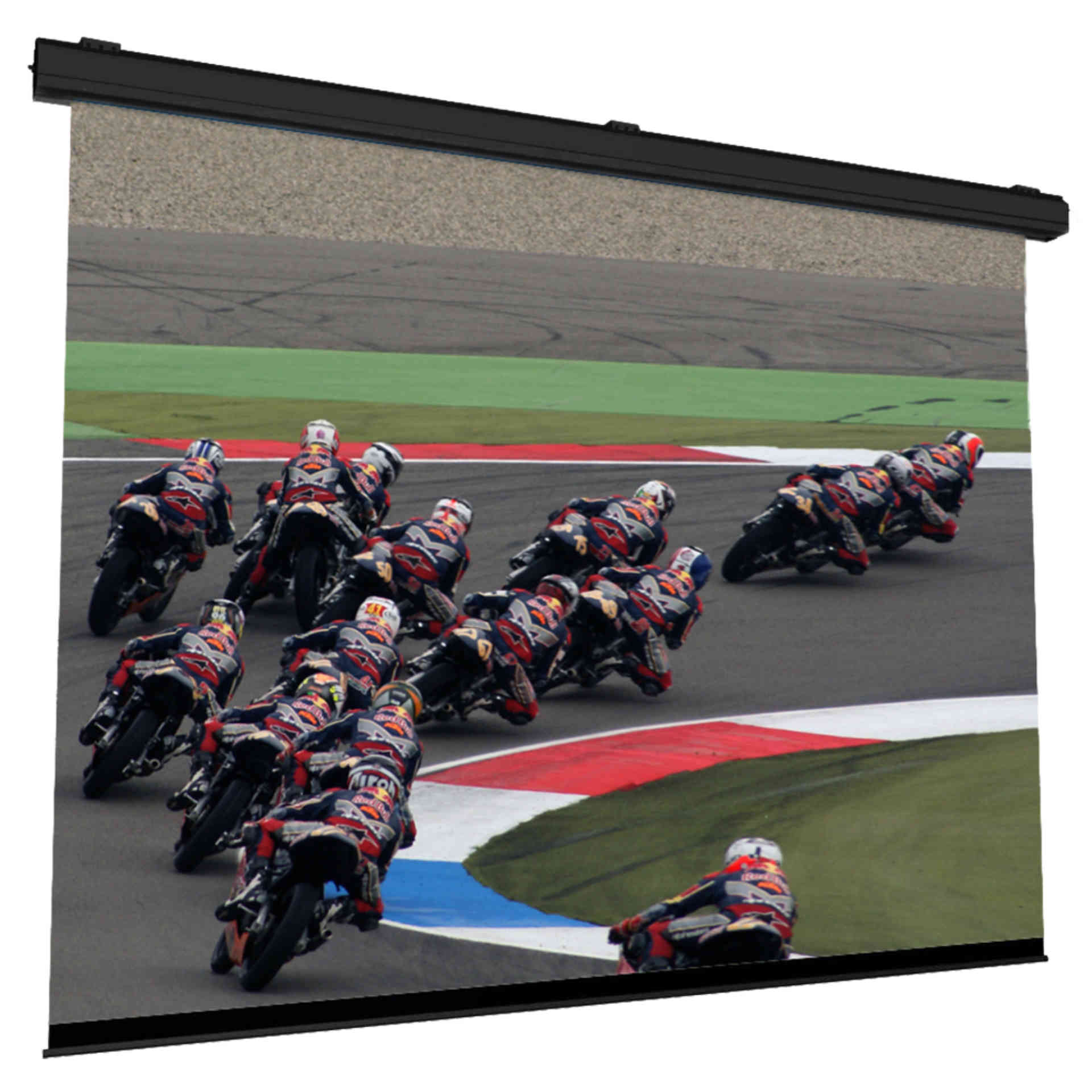 large electric motorized roll up screen widevision multivision